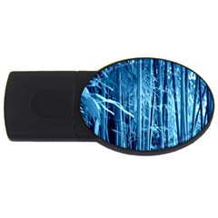Blue Bamboo 4GB USB Flash Drive (Oval)