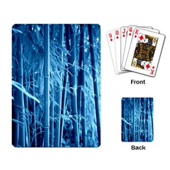 Blue Bamboo Playing Cards Single Design
