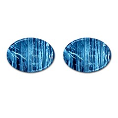 Blue Bamboo Cufflinks (oval)