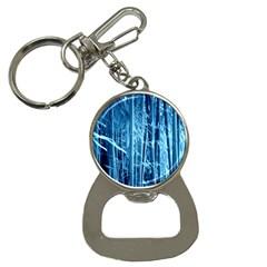 Blue Bamboo Bottle Opener Key Chain