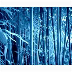 Blue Bamboo Canvas 16  X 20  (unframed)