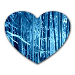 Blue Bamboo Mouse Pad (Heart)