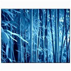 Blue Bamboo Canvas 11  X 14  (unframed)