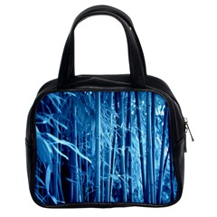 Blue Bamboo Classic Handbag (Two Sides)
