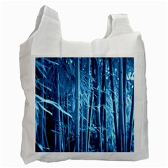 Blue Bamboo Recycle Bag (Two Sides)