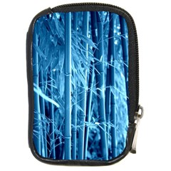 Blue Bamboo Compact Camera Leather Case