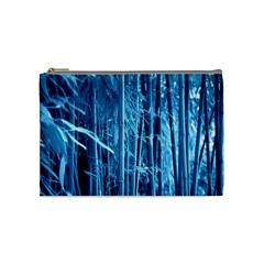 Blue Bamboo Cosmetic Bag (medium)