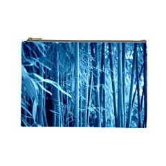 Blue Bamboo Cosmetic Bag (Large)