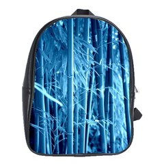 Blue Bamboo School Bag (large)