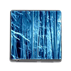 Blue Bamboo Memory Card Reader With Storage (square)