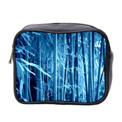 Blue Bamboo Mini Travel Toiletry Bag (Two Sides)