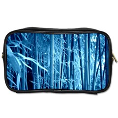 Blue Bamboo Travel Toiletry Bag (two Sides)