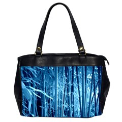 Blue Bamboo Oversize Office Handbag (Two Sides)