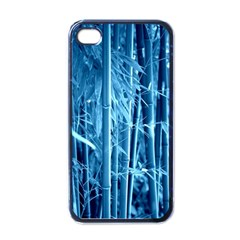 Blue Bamboo Apple iPhone 4 Case (Black)