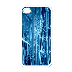 Blue Bamboo Apple iPhone 4 Case (White)