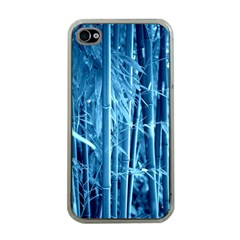 Blue Bamboo Apple iPhone 4 Case (Clear)