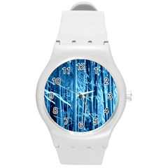 Blue Bamboo Plastic Sport Watch (Medium)