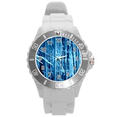 Blue Bamboo Plastic Sport Watch (Large)