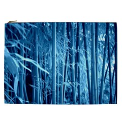 Blue Bamboo Cosmetic Bag (XXL)
