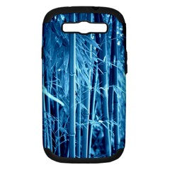 Blue Bamboo Samsung Galaxy S III Hardshell Case (PC+Silicone)