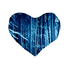 Blue Bamboo 16  Premium Heart Shape Cushion