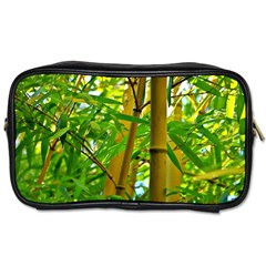 Bamboo Travel Toiletry Bag (two Sides)