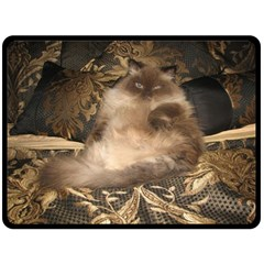 Large Fleece Blanket Kitty Kat Fleece Blanket (Extra Large)