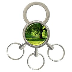 Trees 3 Ring Key Chain