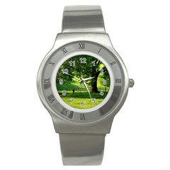 Trees Stainless Steel Watch (Unisex)