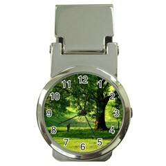 Trees Money Clip With Watch