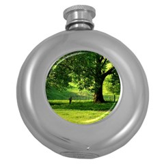 Trees Hip Flask (round)