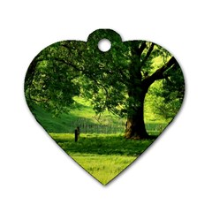 Trees Dog Tag Heart (Two Sided)