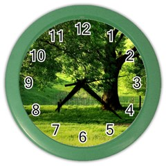 Trees Wall Clock (Color)