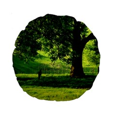 Trees 15  Premium Round Cushion