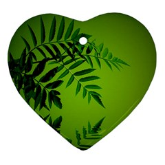 Leaf Heart Ornament