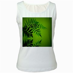 Leaf Womens  Tank Top (white)