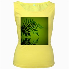 Leaf Womens  Tank Top (yellow)