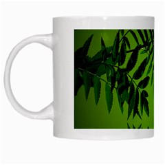 Leaf White Coffee Mug
