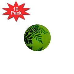 Leaf 1  Mini Button Magnet (10 pack)