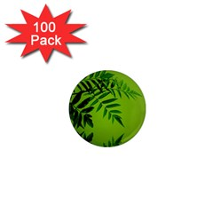Leaf 1  Mini Button Magnet (100 Pack)