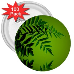 Leaf 3  Button (100 pack)