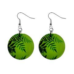 Leaf Mini Button Earrings