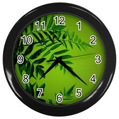 Leaf Wall Clock (Black)
