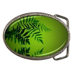 Leaf Belt Buckle (Oval)