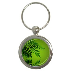 Leaf Key Chain (Round)