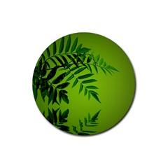 Leaf Drink Coasters 4 Pack (Round)