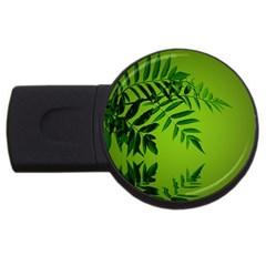 Leaf 2gb Usb Flash Drive (round)