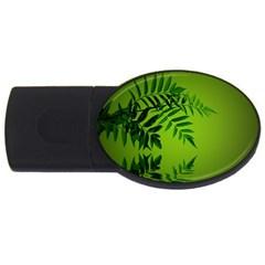 Leaf 1GB USB Flash Drive (Oval)