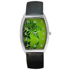 Leaf Tonneau Leather Watch