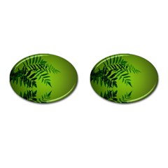 Leaf Cufflinks (Oval)